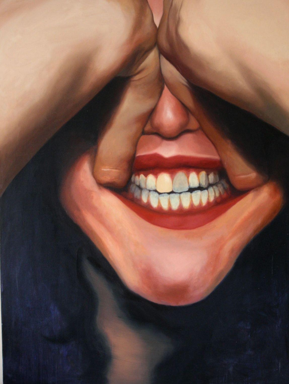 """Broken Teeth"" Oil on Canvas, 3ft x 4ft, 2014"