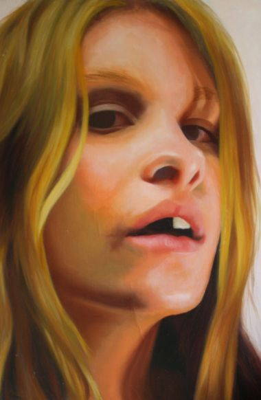 """""""Heather No. 1"""" Oil on Canvas, 24"""" x 36"""", 2014"""
