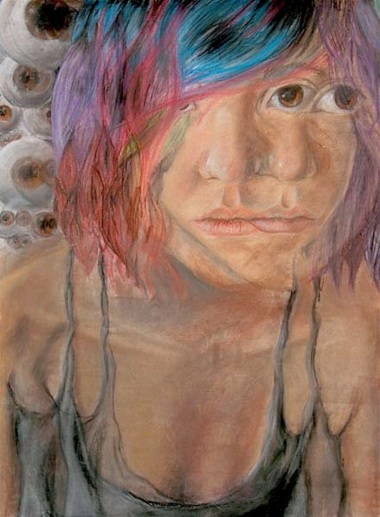 """Seeing Myself"" Chalk Pastels 24""x36"" 2010"
