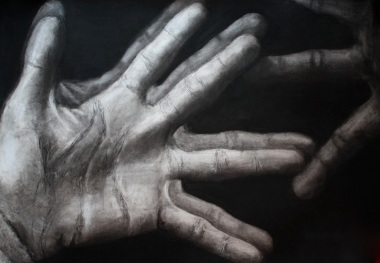 """Ego Manus"" Charcoal on Paper 36""x48"" 2011"